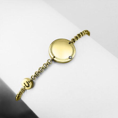 personalized bracelet gold